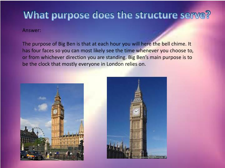 What purpose does the structure serve?