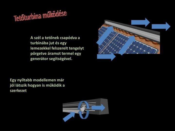 Tetőturbina működése