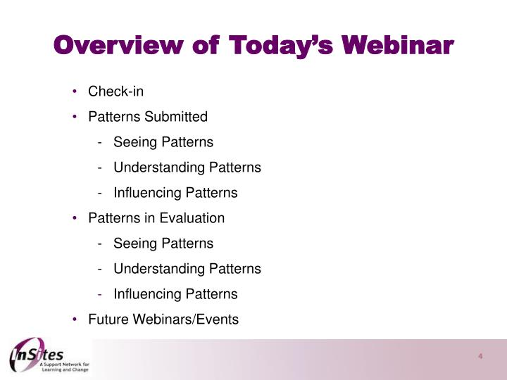 Overview of Today's Webinar