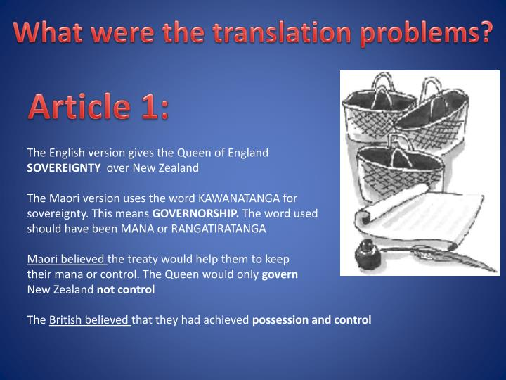 What were the translation problems?