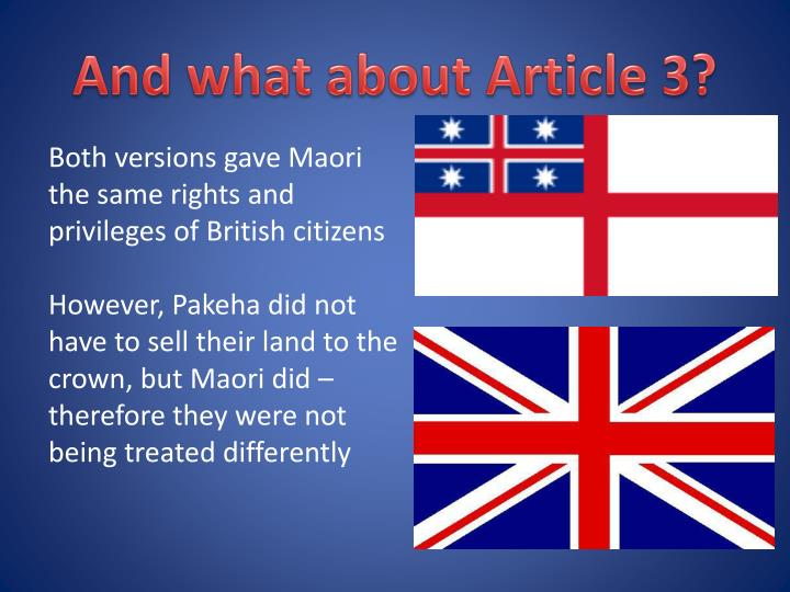 And what about Article 3?