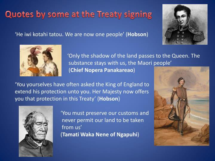 Quotes by some at the Treaty signing