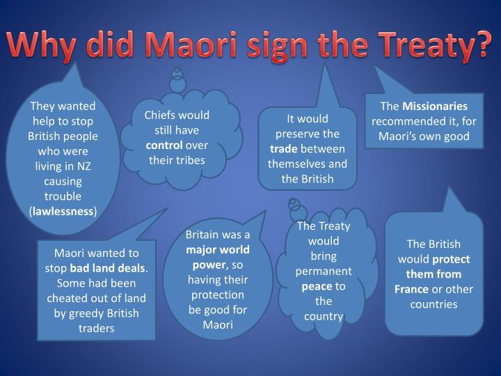 Why did Maori sign the Treaty?