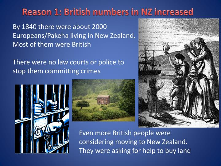 Reason 1: British numbers in NZ increased