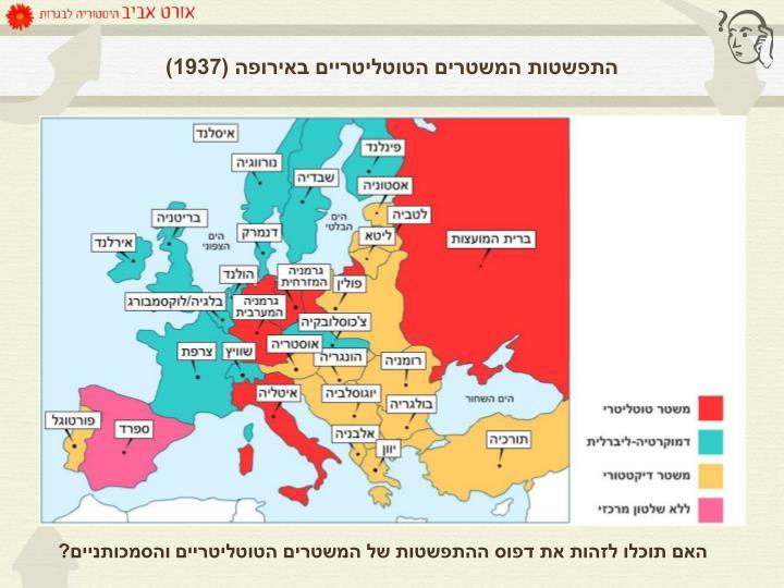 התפשטות המשטרים הטוטליטריים באירופה (1937)