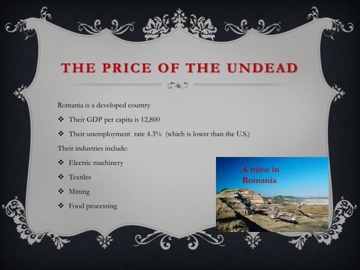 The price of the undead
