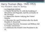harry truman rep 1945 1953 vice president alben w barkley