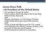 james knox polk 11th president of the united states