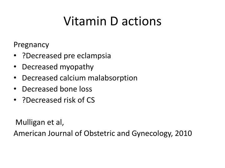 Vitamin D actions
