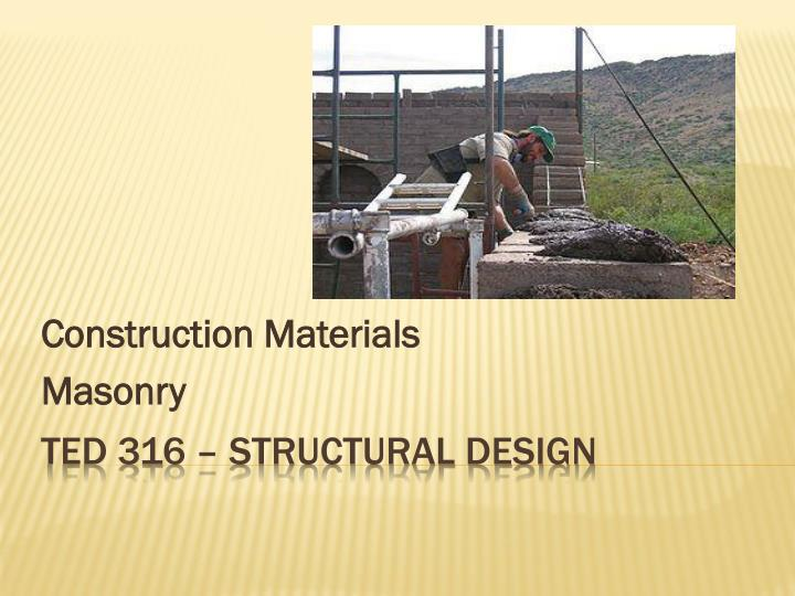 Construction materials masonry