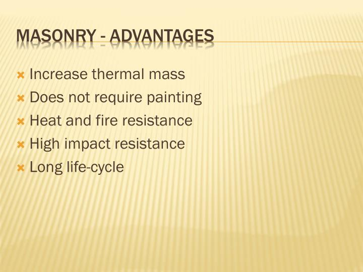 Increase thermal mass