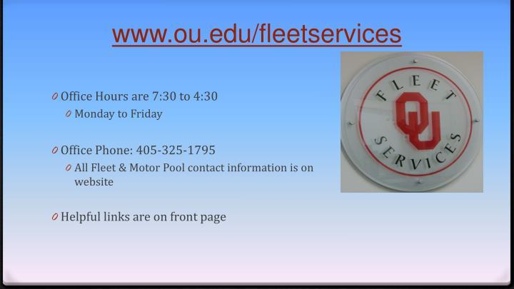 www.ou.edu/fleetservices