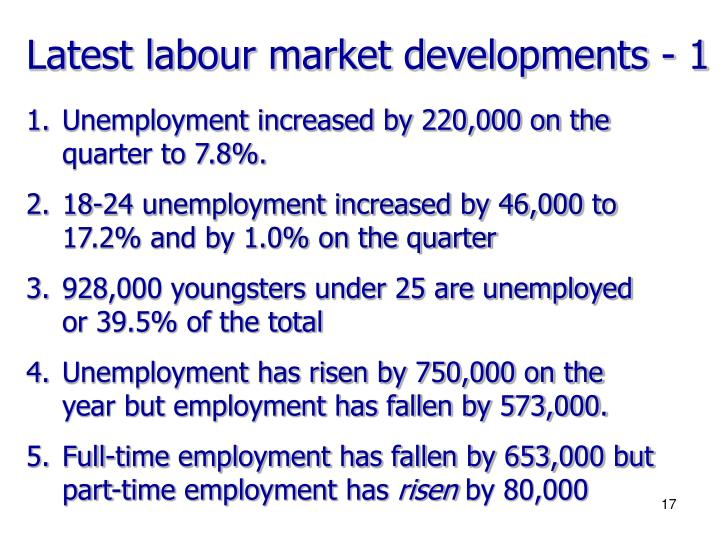 Latest labour market developments - 1