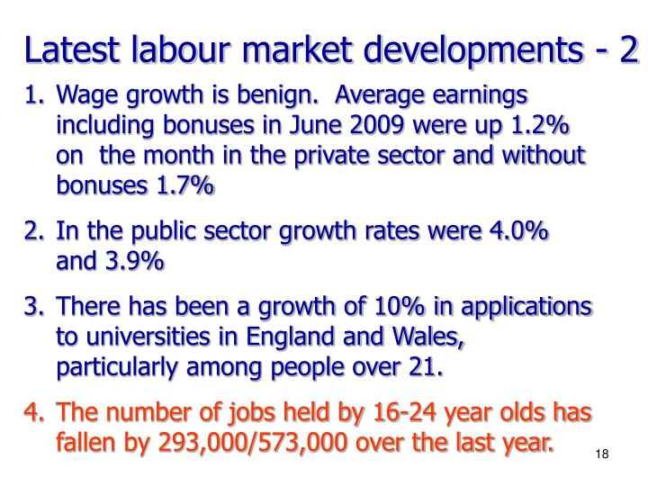 Latest labour market developments - 2