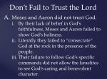 don t fail to trust the lord1