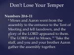 don t lose your temper