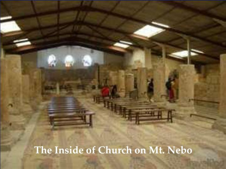 The Inside of Church on Mt. Nebo