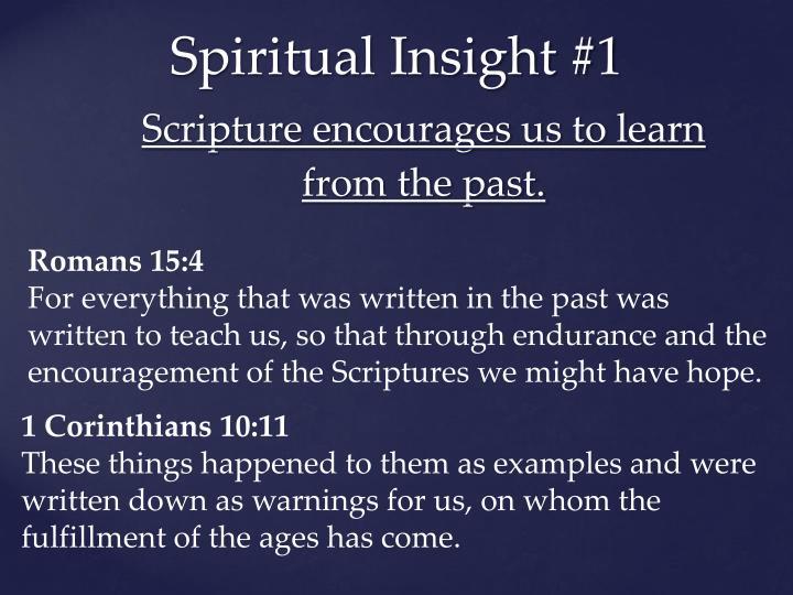 Spiritual Insight #1