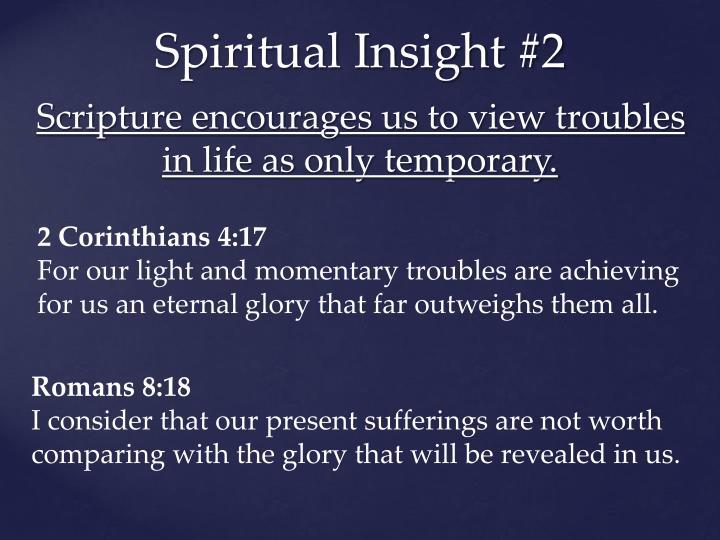 Spiritual Insight #2