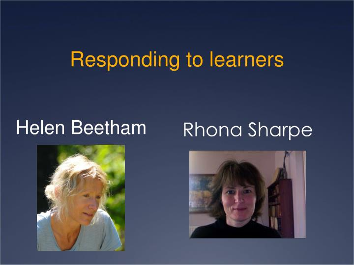 Responding to learners