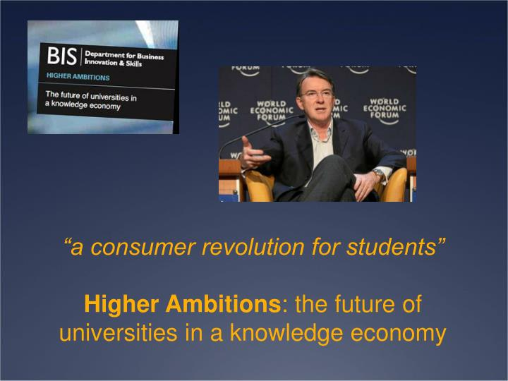"""a consumer revolution for students"""