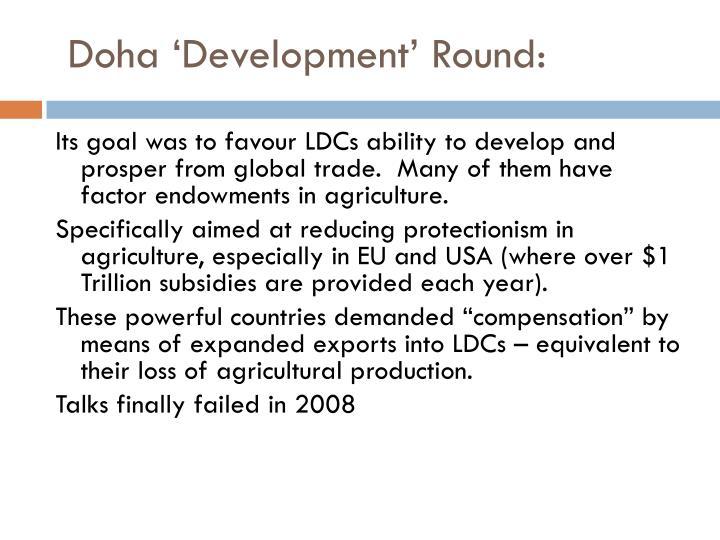 Doha 'Development' Round: