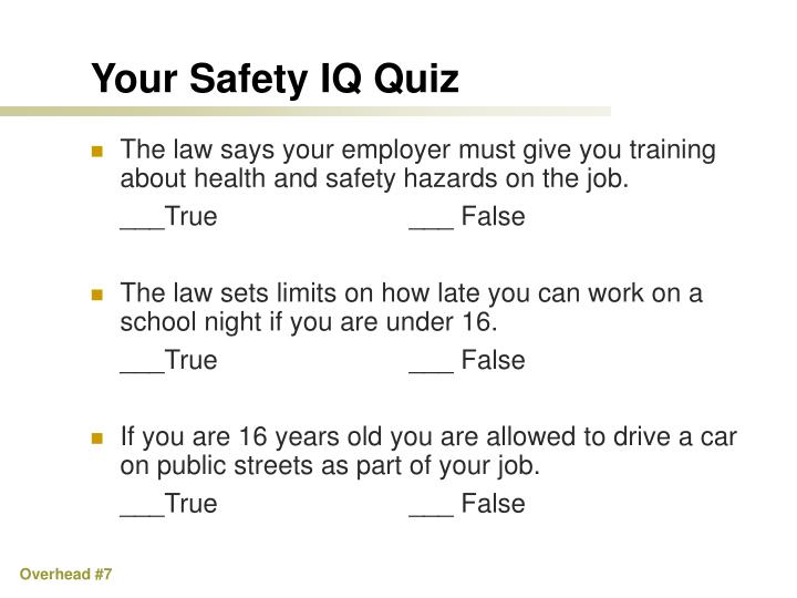 Your Safety IQ Quiz