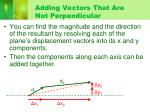 adding vectors that are not perpendicular1
