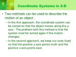 coordinate systems in 2 d1