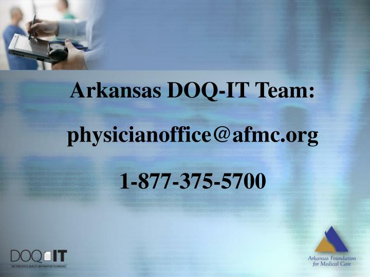 Arkansas DOQ-IT Team: