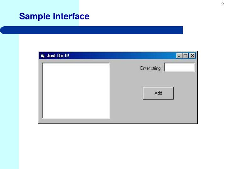 Sample Interface