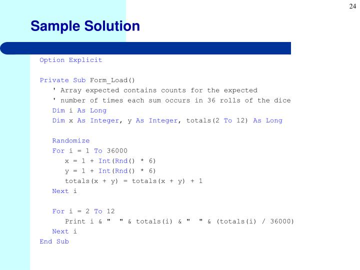 Sample Solution