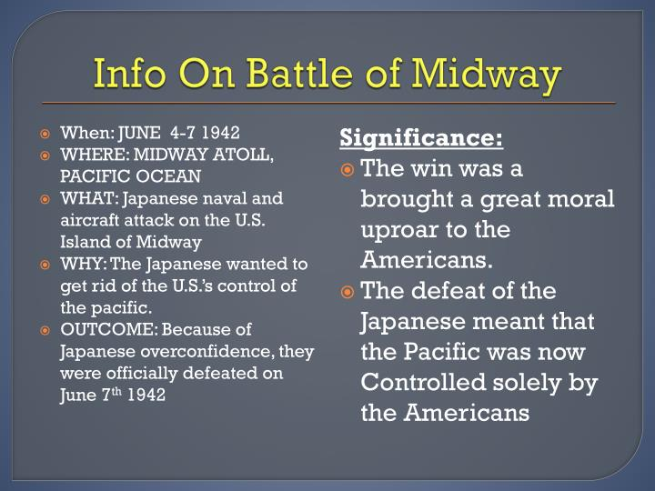 Info On Battle of Midway