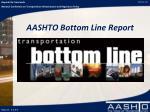aashto bottom line report