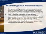 aashto legislative recommendations1