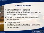 risks of in action