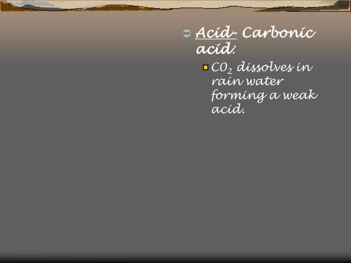 Acid-