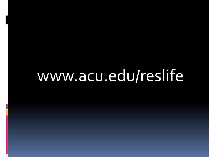 www.acu.edu/reslife