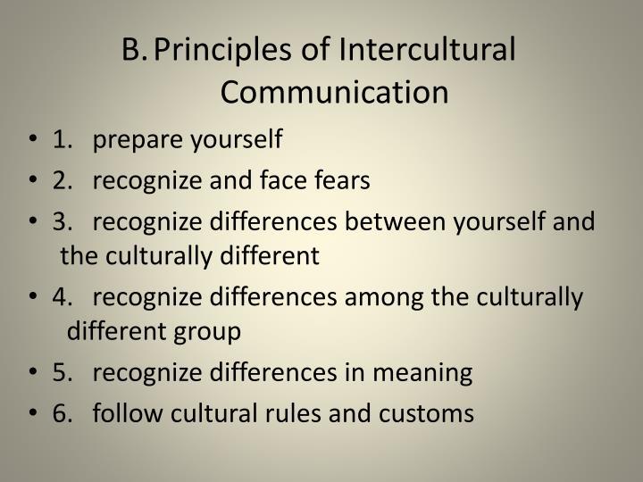 B.Principles of Intercultural Communication
