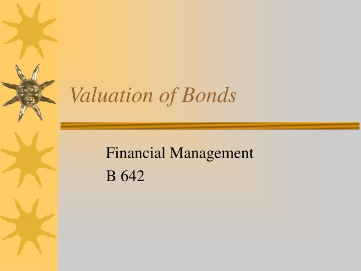 valuation of bonds