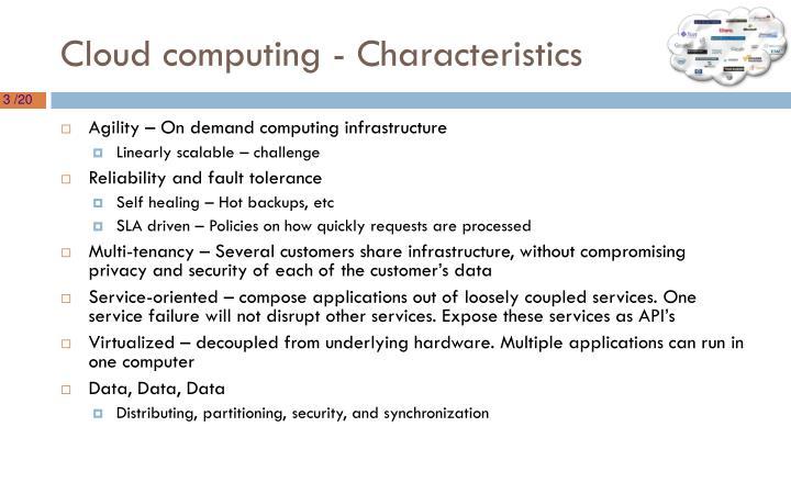 Cloud computing - Characteristics