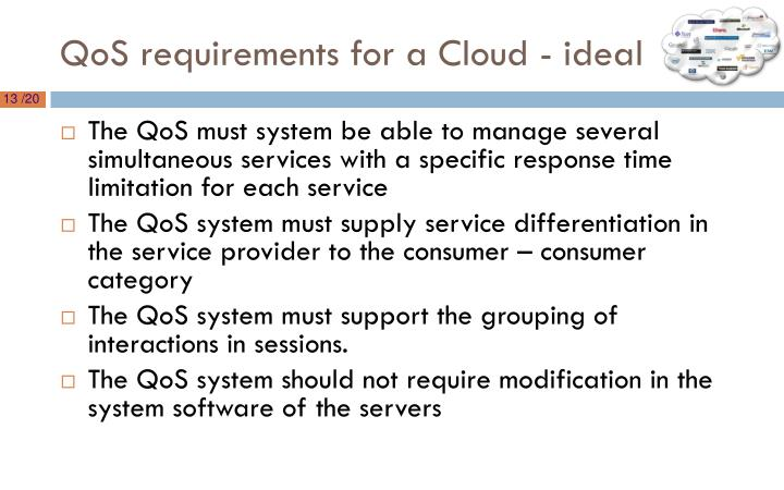 QoS requirements for a Cloud - ideal