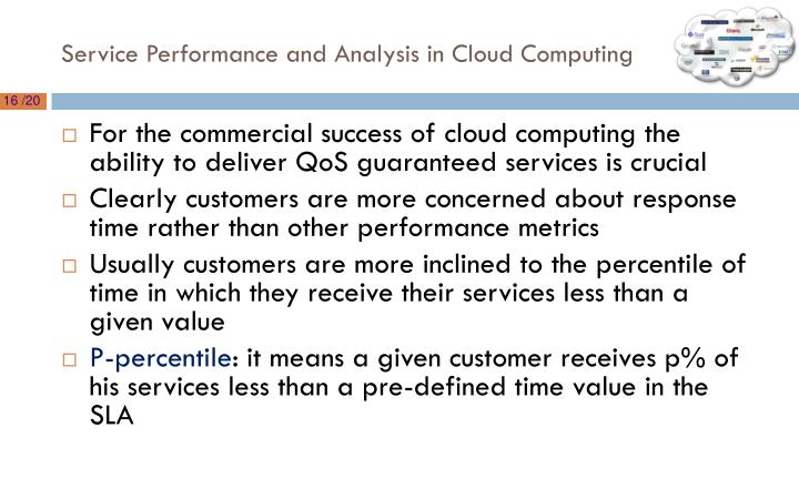 Service Performance and Analysis in Cloud Computing