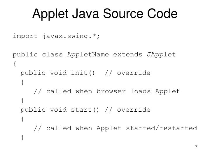 Applet Java Source Code