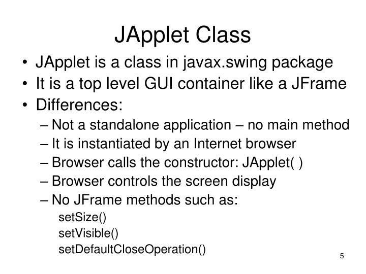 JApplet Class