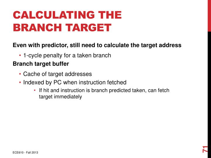Calculating the Branch Target