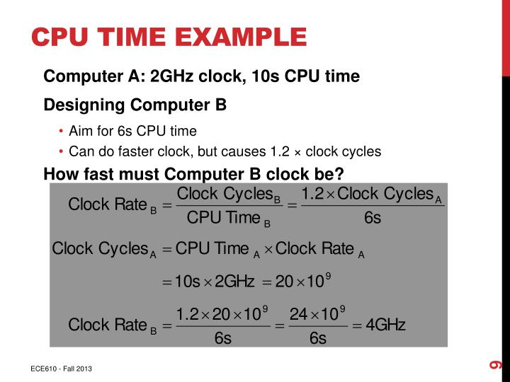 CPU Time Example