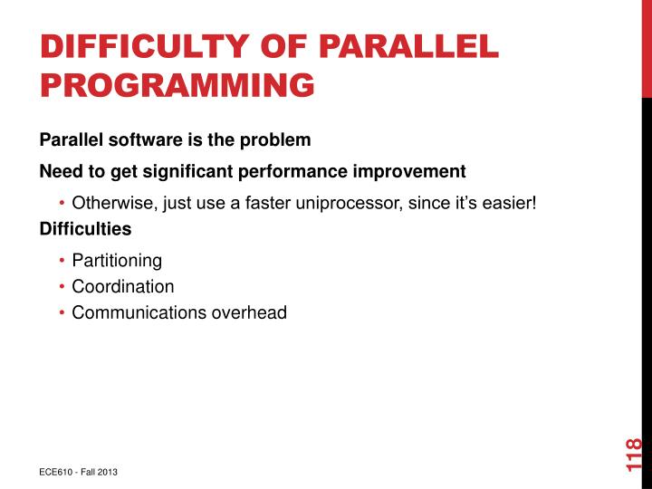Difficulty of Parallel