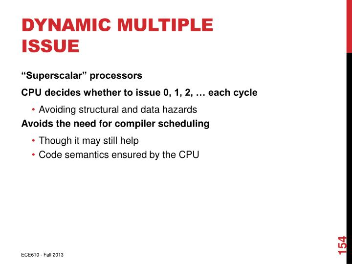 Dynamic Multiple Issue
