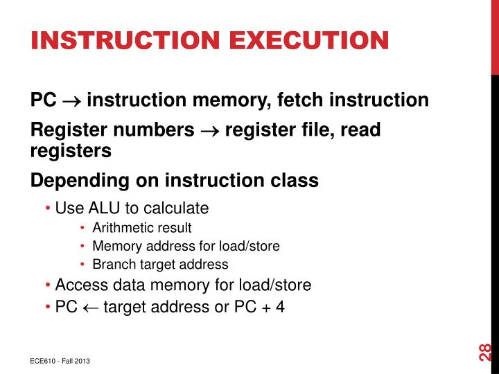 Instruction Execution